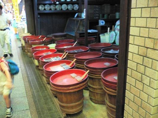 錦市場(やる気の無い漬物屋)