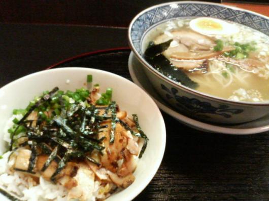 麺和道(塩&焼豚丼)
