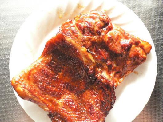 鶏モモ燻製3