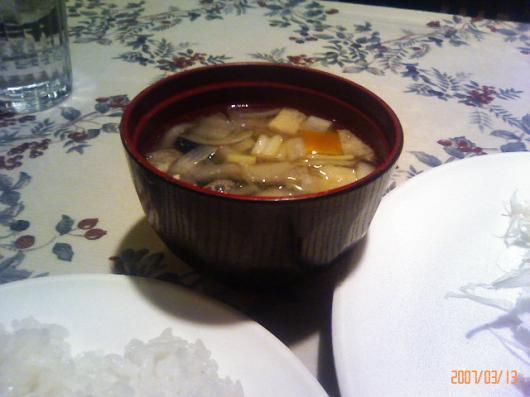 いわむら(具沢山味噌汁)