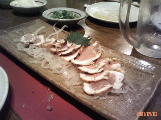 味加味(地鶏のタタキ)