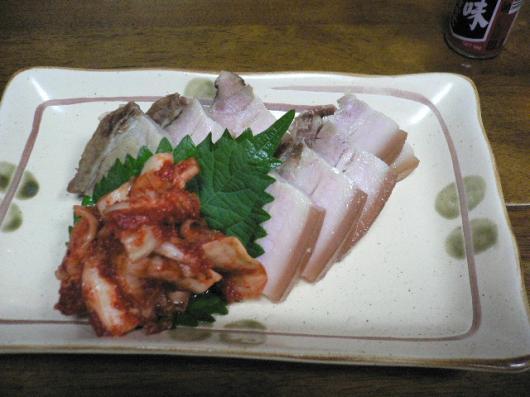 蒸し豚キムチ