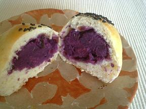 紫芋あんぱん②