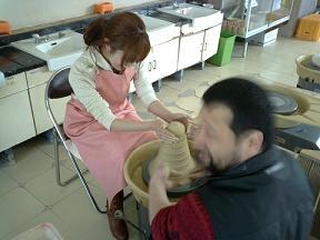 萩焼体験①
