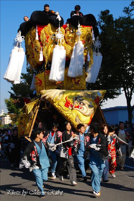 (西条市の祭り 西条祭り2008) 北浜御輿(喜多浜みこし)その2 御輿の練り比べ7 西条郵便局・大屋・ハルク前にて 2008年10月15日
