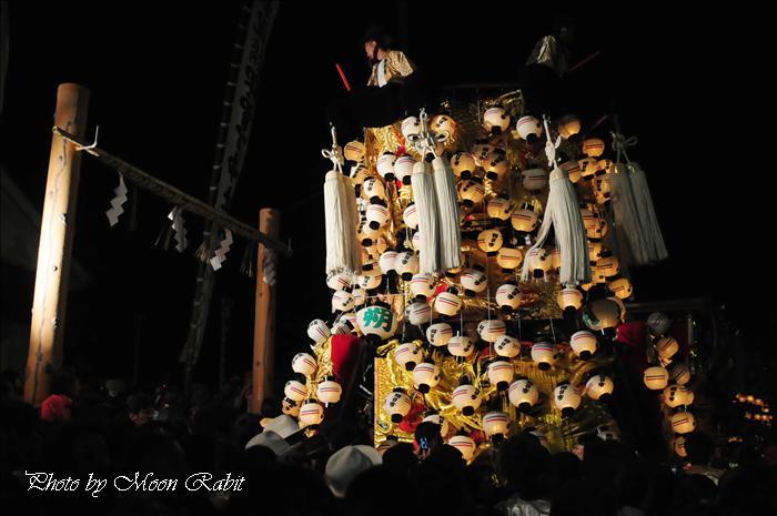 (西条祭り2008) 伊曽乃神社祭礼(例大祭、祭り) 御旅所(お旅所) その60 朔日市御輿(みこし) 西条市大南 御旅所(お旅所)前にて 2008.10.16