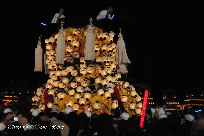 (西条祭り2008) 伊曽乃神社祭礼(例大祭、祭り) 御旅所(お旅所) その61 下喜多川みこし(御輿) 西条市大南 御旅所(お旅所)前にて 2008.10.16