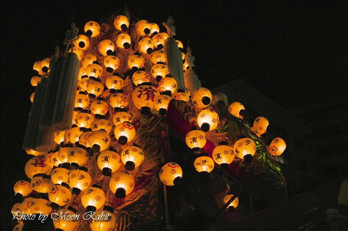 (西条祭り2008) 伊曽乃神社祭礼(例大祭、祭り)後夜祭(51) 北浜(喜多浜)御輿(みこし) 御殿前(西条高校前) 2008年10月16日