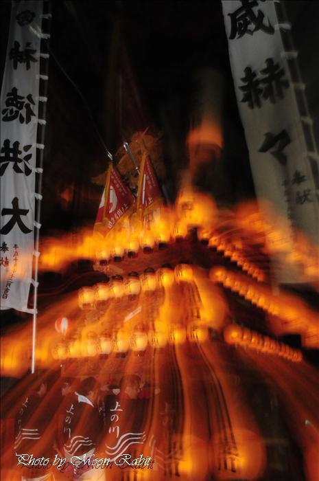西条市の祭り 山王社高尾神社春祭り(例大祭)2 上の川(上之川)だんじり「炎上」 西条市氷見 2009年4月28日