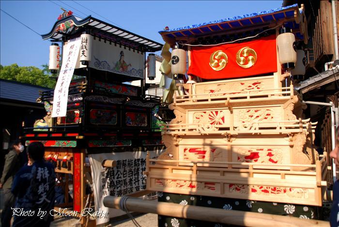 西条市の祭り 高尾神社春祭り5 上の川(上之川)屋台と上の川子供だんじり 西条市氷見 2009年4月29日