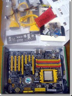 LANPARTY UT nF4 SLI-DR Expertの箱の中身