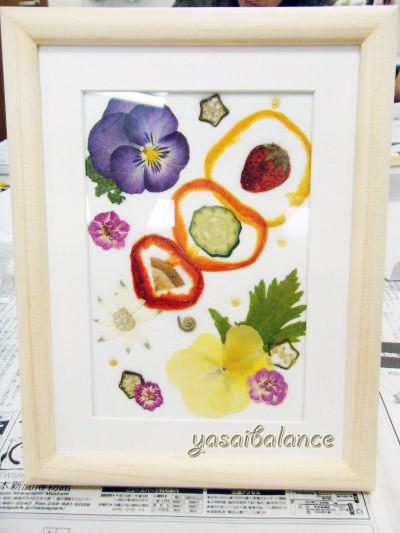 野菜と果物のインテリアアート完成