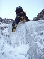 5m氷瀑を乗っ越すKさん