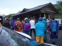 俵山峠での出発式