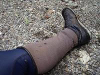 休憩中の足