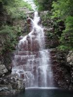 栂谷の15m滝