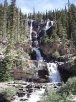 アイスフィールド氷原近くの滝