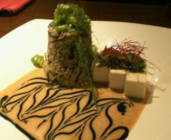 玄米と豆腐のサラダだって・・