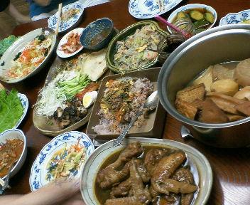 皆が持ち寄った韓国料理♪