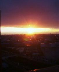 我が家からお夕陽・・
