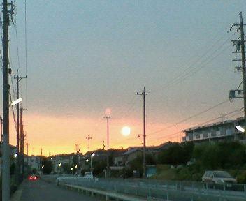 夕陽がとっても綺麗だった