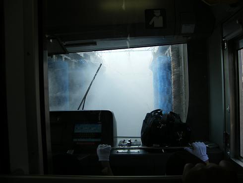 洗車機突入①