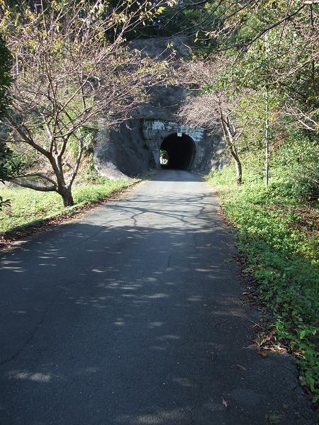 なにやらトンネルのような