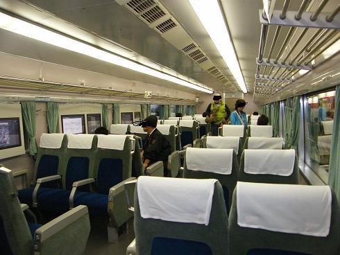 新幹線0系の車内