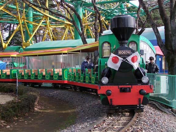 園内のSL電車