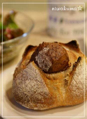 栗の渋皮煮のカンパーニュ081012