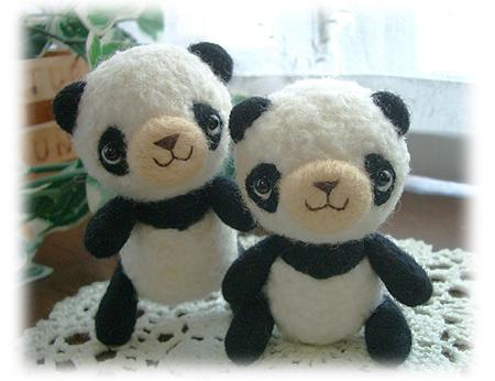 双子のパンダちゃん
