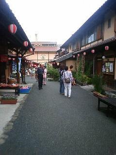 神楽門前湯治村の風景
