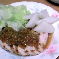 鶏胸肉の玉葱ソォス