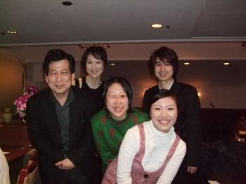 アヴェンヌでYU-MAさん、美香さん、青井先生、美穂ちゃんと