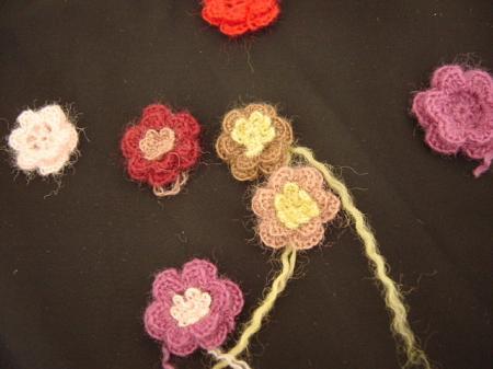 ニットの花
