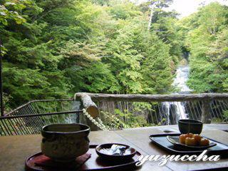 龍頭の滝で一休み