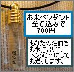 お米ペンダント・ライスチャームオーダーフォーム