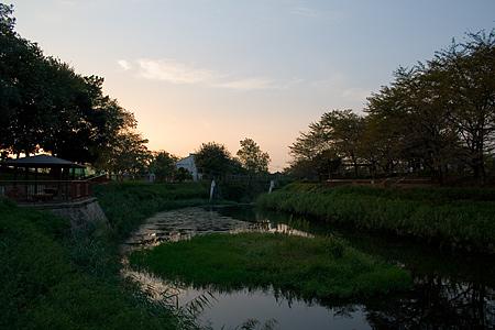 白沢渓谷の夕暮れ