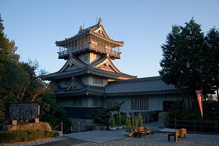 岩崎城裏手からの眺め
