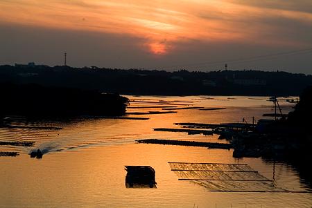 賢島大橋から見る英虞湾の夕景