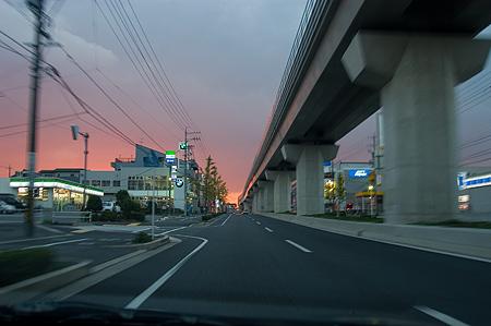 グリーンロードの夕焼け-3