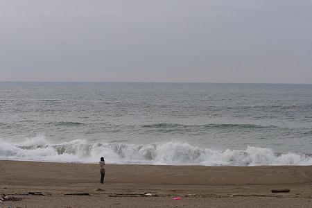 伊良湖の海と人-4