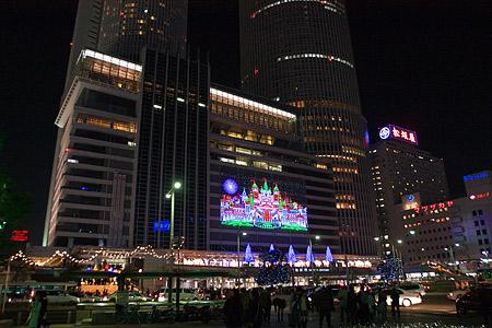 名古屋駅の冬の光景-1