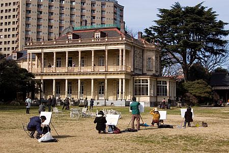 旧岩崎邸庭園中庭