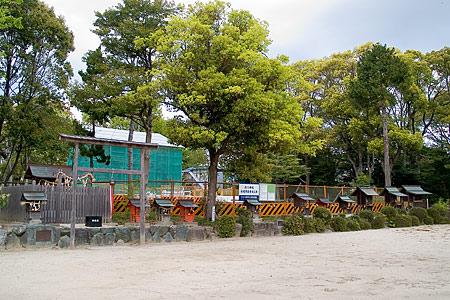工事中の渋川神社