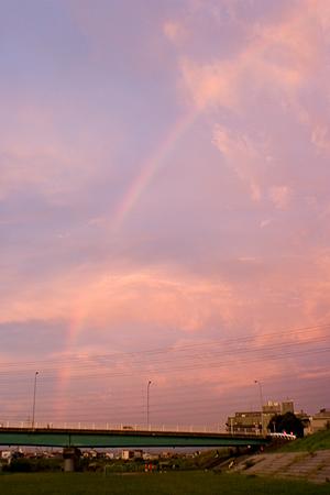 虹と夕焼け-5