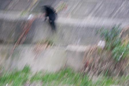 夕暮れ香流川-6