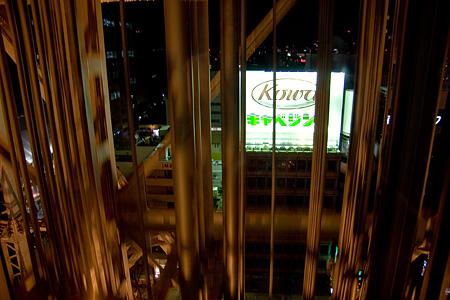 テレビ塔エレベーター内