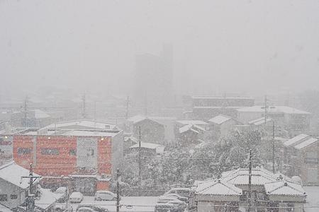 雪の名古屋-1
