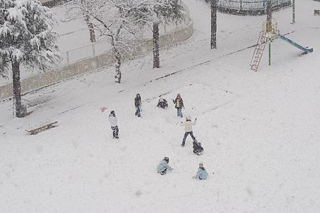 雪の名古屋-6